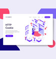 landing page template of http cookie concept vector image vector image
