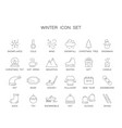 line icons set winter pack vector image