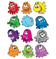 microbes set against a white background vector image vector image