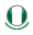 nigeria flag button nigeria flag icon of nigeria vector image vector image