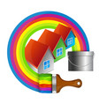 painting houses vector image
