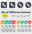 pencil icon sign Big set of colorful diverse vector image vector image