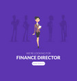 recruiting and finance director selection landing vector image