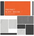 retro blocks template vector image vector image