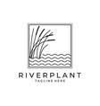 river plant cattail icon logo symbol design