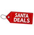 santa deals label or price tag vector image vector image