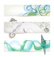 Sea and beach stylish banners vector image vector image