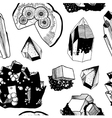 Seamless pattern with minerals vector image vector image
