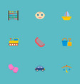 set of child icons flat style symbols with baby vector image
