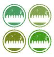 Set of garden labels vector image vector image