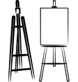 simple with easels vector image vector image