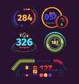 speedometer futuristic automobile racing speed vector image vector image