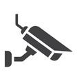 surveilance camera solid icon security and cctv vector image vector image