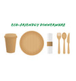 sustainable home goods and eco-friendly dinnerware vector image