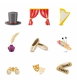 Theatre Realistic Icons vector image vector image