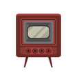 vintage old tv on a white vector image vector image