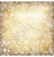 vintage xmas golden stars vector image vector image