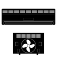 Wall-mounted Air Conditioner Icon vector image vector image