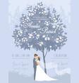 wedding 4 blue vector image vector image