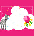 zebra on party border vector image vector image