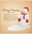 merry christmas festive template vector image