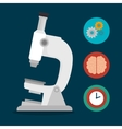microscope school set elements design vector image