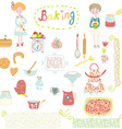 Baking design elements - cute and funny vector image