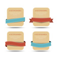 Set of retro banners and ribbons of different vector image