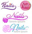 nails saloon symbol set vector image