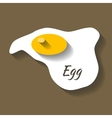 scrambled egg paper cut style vector image