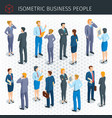 isometric business people vector image