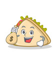 with money bag sandwich character cartoon style vector image