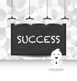 abstract cartoon business and success concept vector image