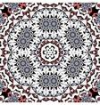 Abstract circle ornate floral mandala ornament vector image