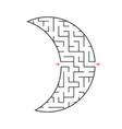 abstract labyrinth simple flat isolated on white vector image
