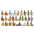 alcohol set vector image vector image