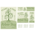 Arbor Day Set of Hand Drawn Poster and Banners vector image vector image