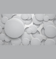 background holes and circles with shadows vector image vector image