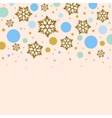 Background with golden snowflakes and colorful vector image vector image