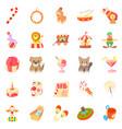 bairn icons set cartoon style vector image vector image