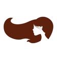 beautiful woman profile icon vector image