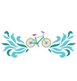 bike embroidery pattern vector image vector image