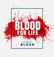 blood for life concept background vector image vector image
