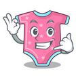 call me baby wool clothes isolated on mascot vector image