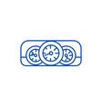 car dashboard line icon concept car dashboard vector image vector image