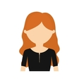 character young woman black shirt vector image