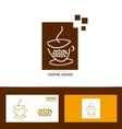 Coffee cup logo icon set vector image vector image