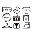 Collection of shopping icons vector image vector image