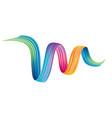 colorful brushstroke design element vector image vector image