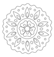 Coloring Wave Floral Mandala vector image